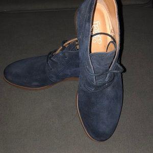 Navy Franco Sarto boots